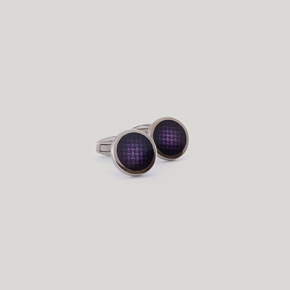 Purple Circle Weave Cufflink