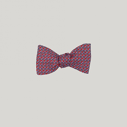 Red and Blue Stirrup Bow