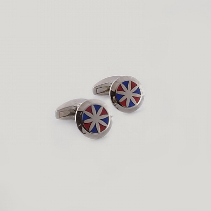 Red and Blue Lynfield Circle Star Cufflink