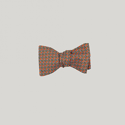 Orange and Green Stirrup Bow
