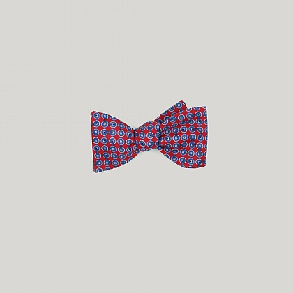Red and Blue Neat Circles Bow