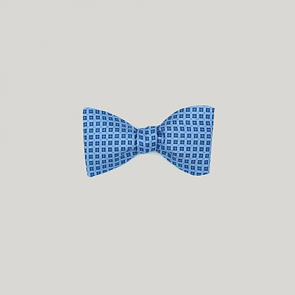 Blue and Sky Neat Squares Bow