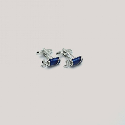 Blue Golf Bag and Clubs Cufflink