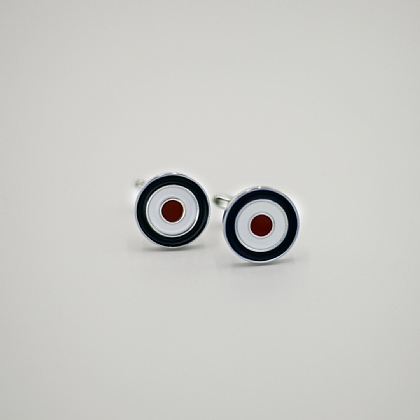 Blue Red and White Target CuffLink