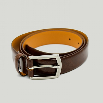 Mid Brown Feather Edge Belt