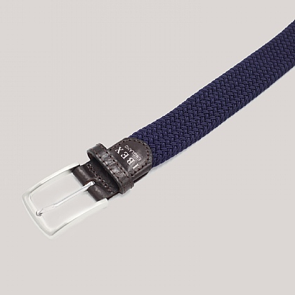 Navy Lattice Elasticated Belt