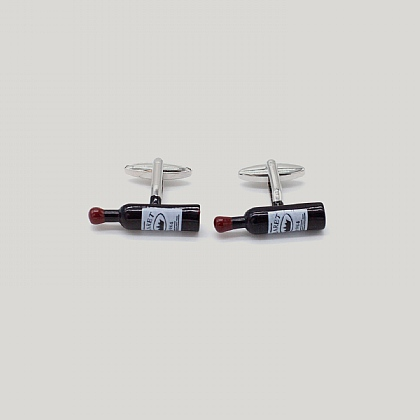 Red Wine Bottle Cufflink