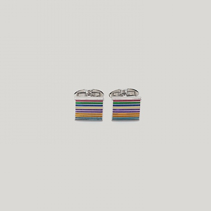 Multi Horizontal Stripe Cufflink