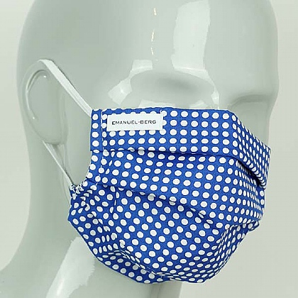 Blue Spot Cotton Face Mask