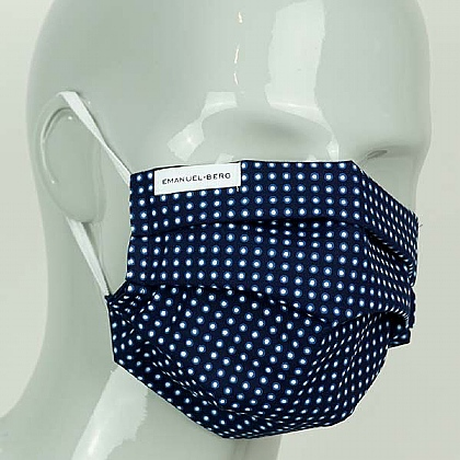 Navy Spot Cotton Face Mask