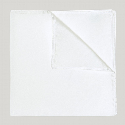 White Silk Essential Handkerchief