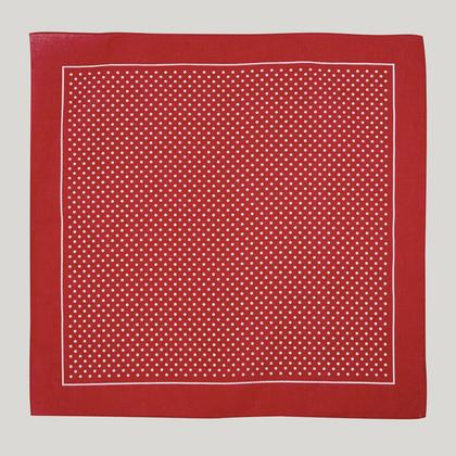 Burgundy with White Spot Cotton Handkerchief