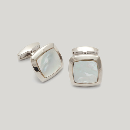 Silver Mother of Pearl Cufflink