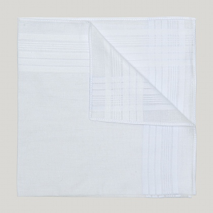 White Plain Cotton Handkerchief