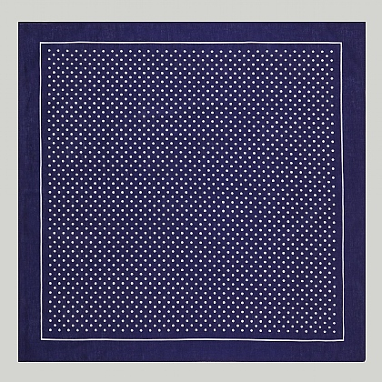 Navy Small Spot Cotton Handkerchief