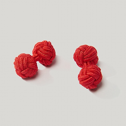 Red Elastic Knot Cufflink