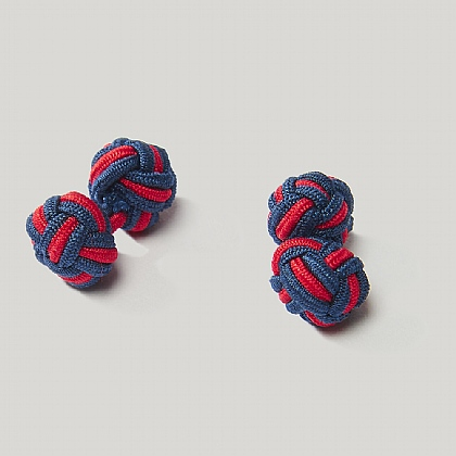 Navy and Sky Elastic Knot Cufflink
