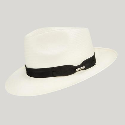 Natural Panama Hat with Black Ribbon