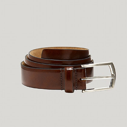 Brown Leather Feather Edge Belt