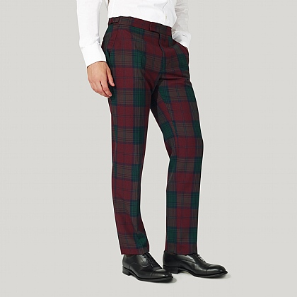 Red Balmoral Tartan Trousers