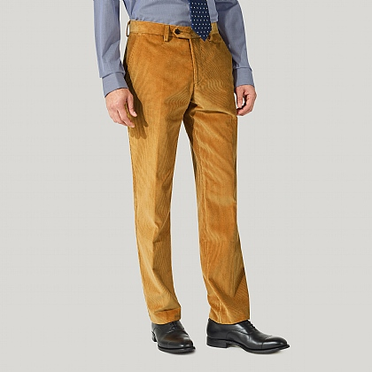 Gold 100% Cotton Cord Trousers
