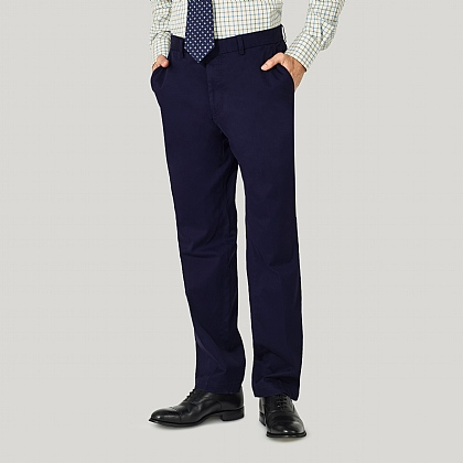 Navy 100% Cotton Trousers