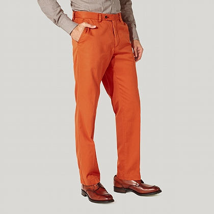 Orange 100% Cotton Trousers