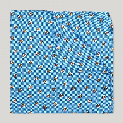 Blue Flower Italian Silk Hank