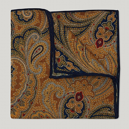 Yellow Paisley Silk Hank