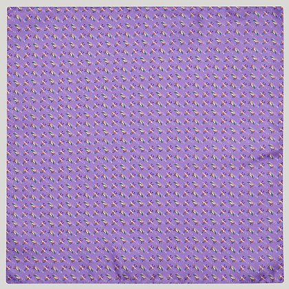 Lilac Duck 100% Silk Printed Handkerchief