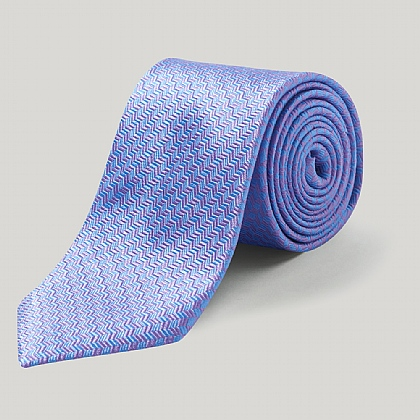 Sky/Lilac Harlequin Woven Silk Tie