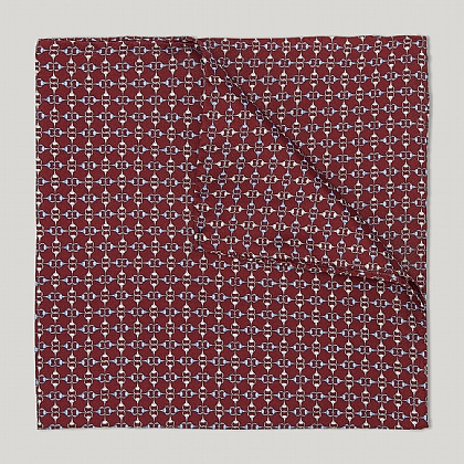 Wine and Sky Bit Link Handkerchief
