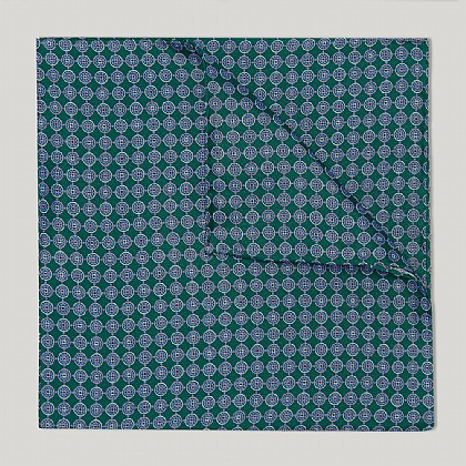 Green and Sky Neat Circles Handkerchief