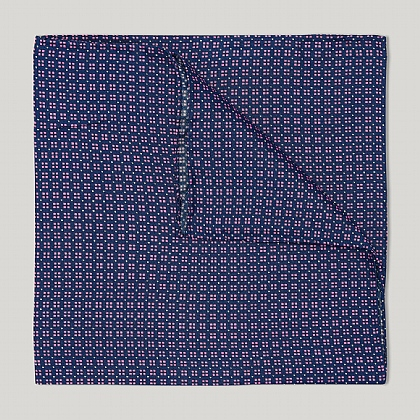 Blue and Pink Neat Squares Handkerchief