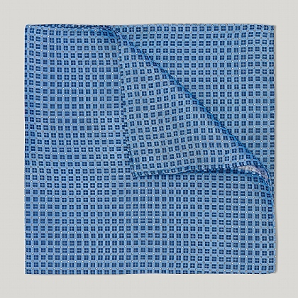 Blue and Sky Neat Squares Handkerchief