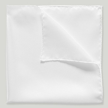 White Pure Silk Handkerchief