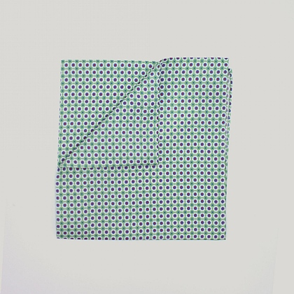 Green Mosaic Printed Silk Hank
