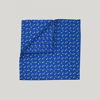 Blue Crab and Starfish Printed Silk Hank