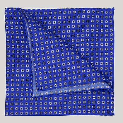 Blue Squares Silk Hank