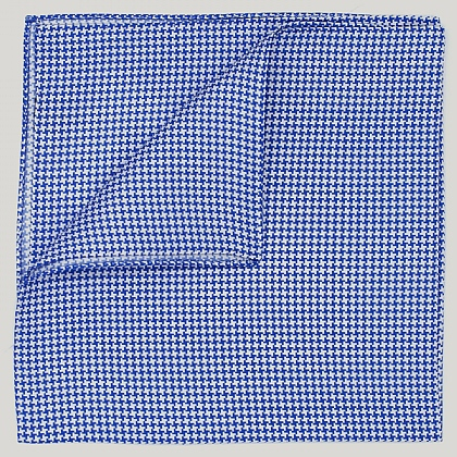Blue Houndstooth Silk Hank