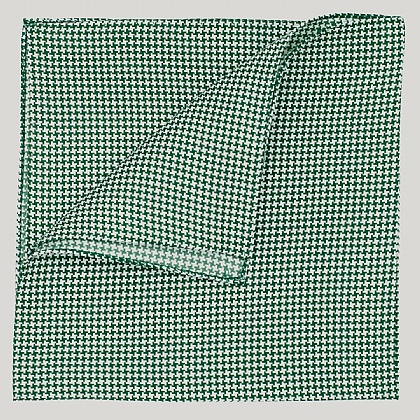Green Houndstooth Silk Hank