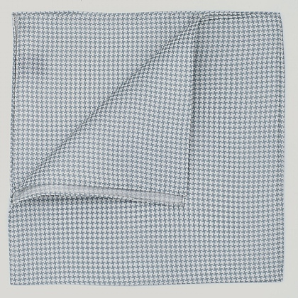 Grey Houndstooth Silk Hank