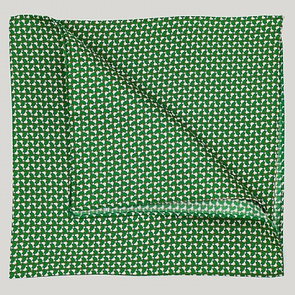 Green Ducks Silk Hank