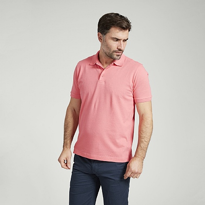 Coral Short Sleeve Cotton Polo