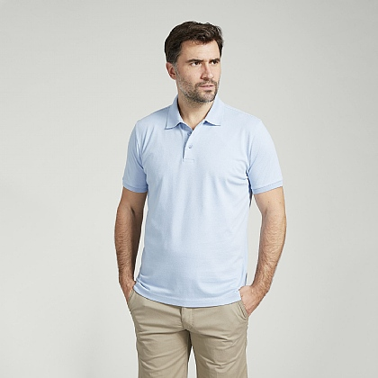Sky Short Sleeve Cotton Polo