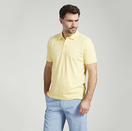 Lemon Short Sleeve Cotton Polo