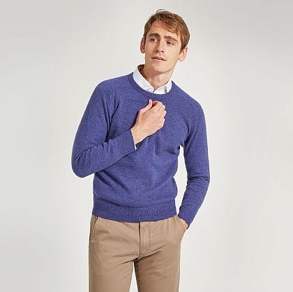Plum Crew Neck Lamsbwool Jumper