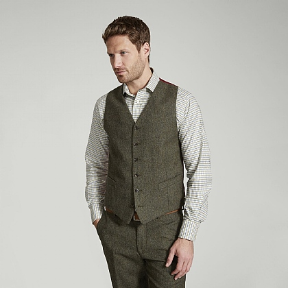 Green Donegal Waistcoat