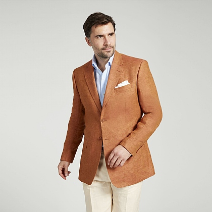Bronze Linen Twill Jacket