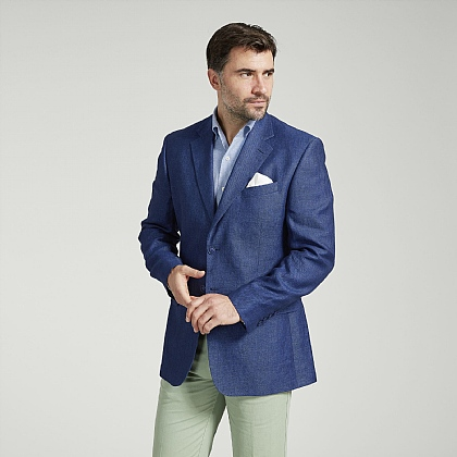 Navy Linen Twill Jacket